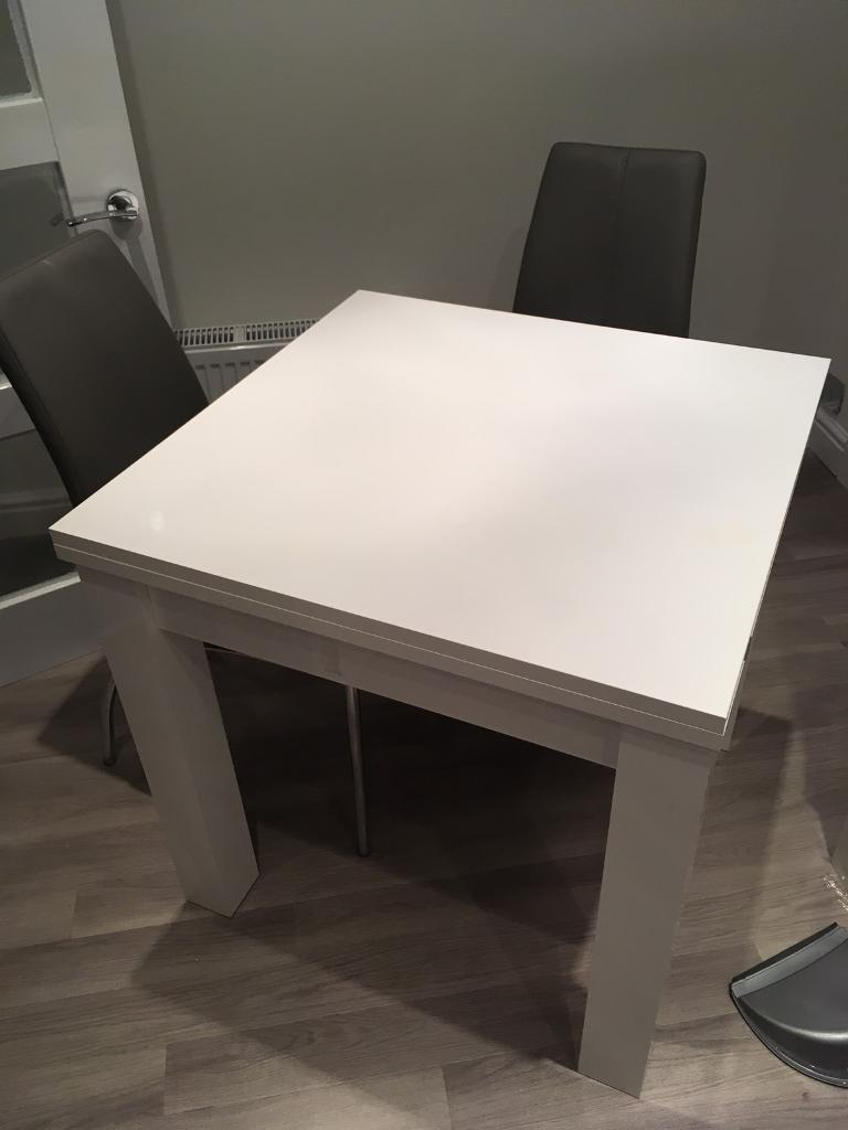 Next Valencia White Gloss 4 6 Seater Dining Table
