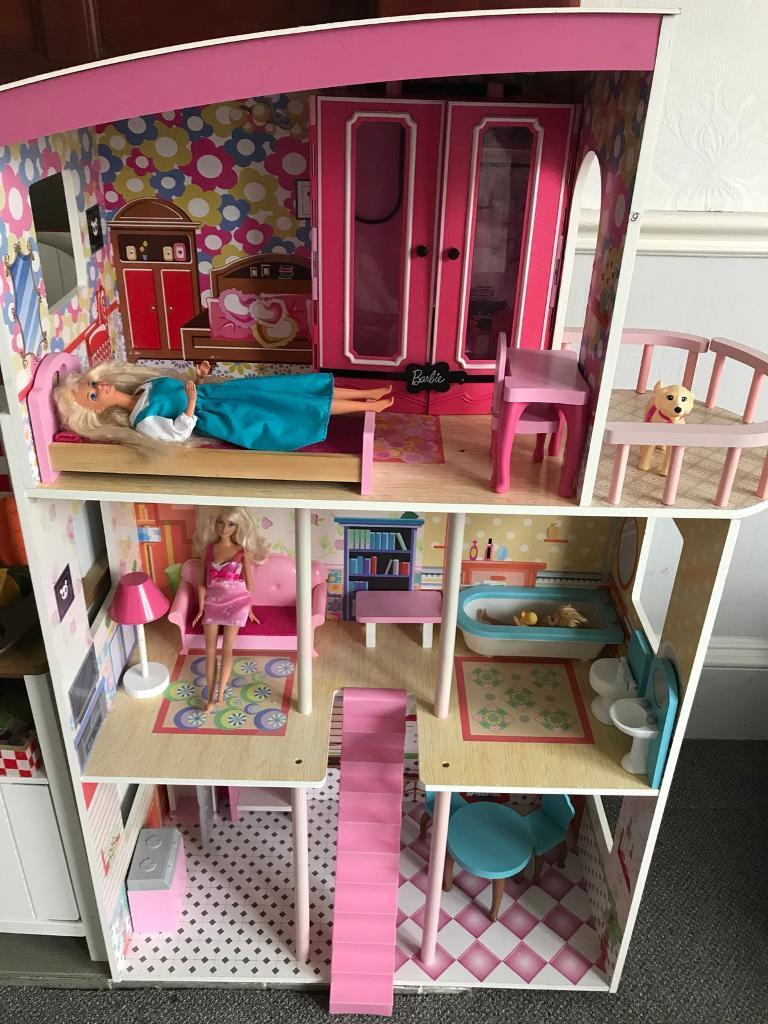Wooden Barbie Doll House Furniture. Immaculate Wooden Barbie Dolls House  And Furniture Plus Barbies Doll