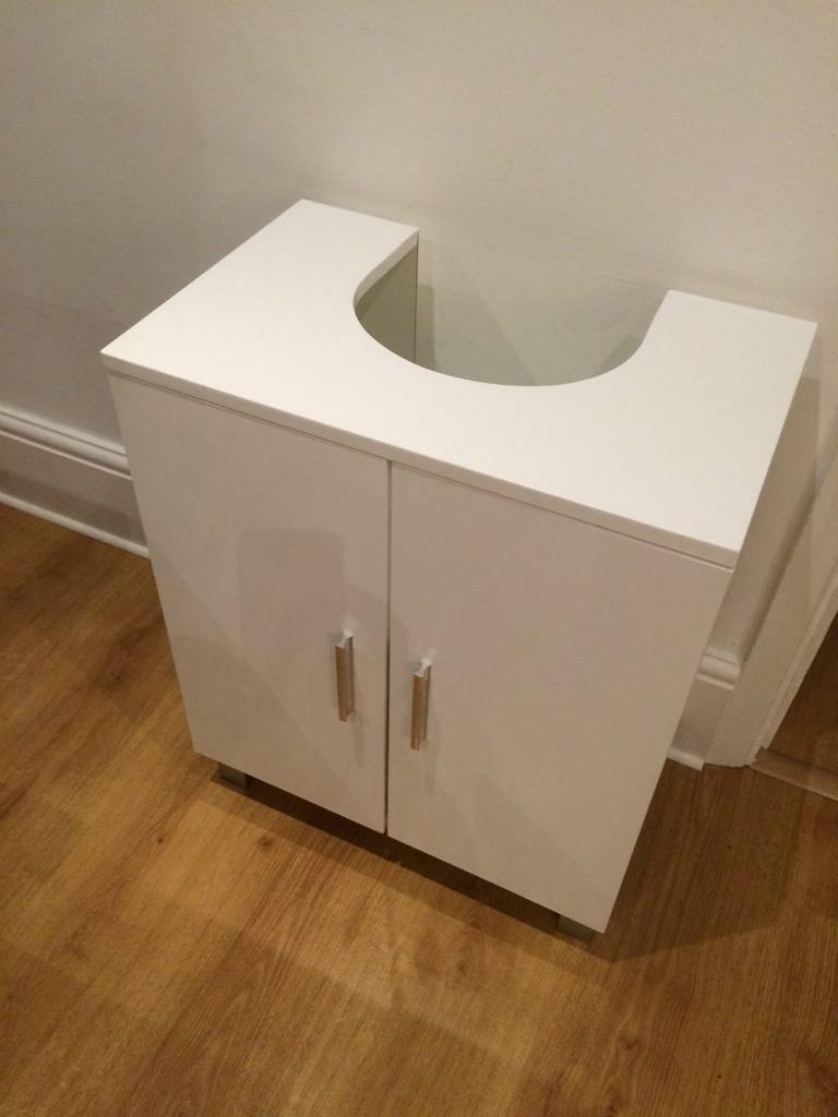 Bathroom Hygena Under Sink Storage Unit - white gloss & Bathroom Hygena Under Sink Storage Unit - white gloss | in Tooting ...