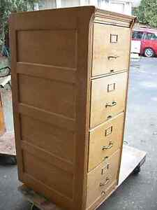LF Oak Wood File Cabinet Older Antique Style Letter Or Legal