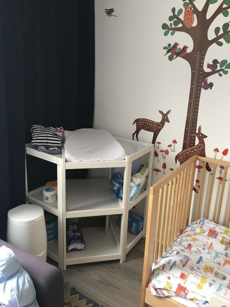 Corner Nappy Diaper Changing Table