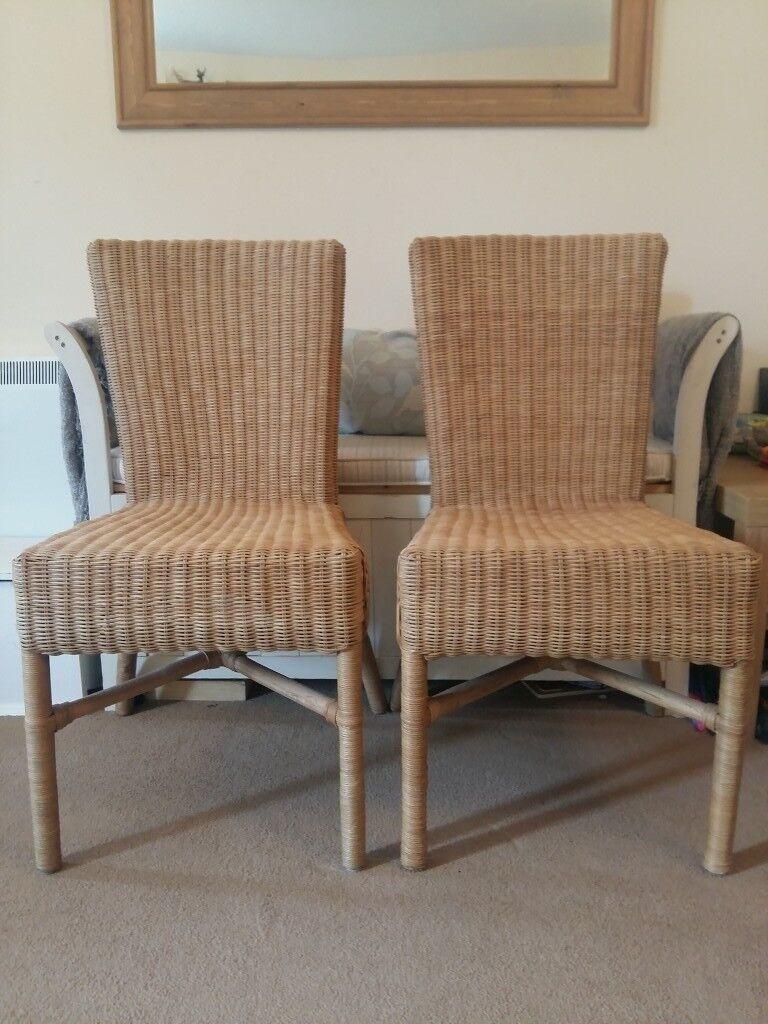 2 X Highback Rattan Wicker Chairs