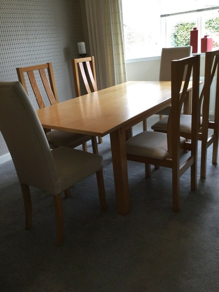 House Of Fraser Dining Room Furniture Comprise Table 6 Chairs