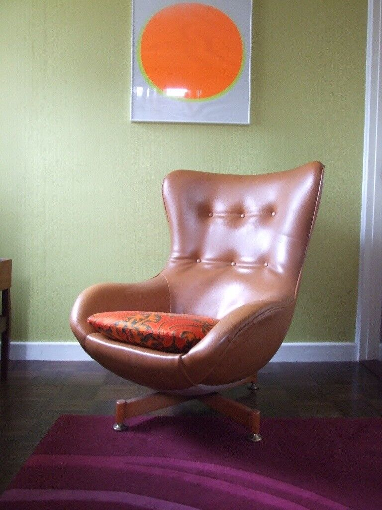 Exceptionnel Retro Vintage 60s 70s Greaves U0026 Thomas Swivel Egg Chair