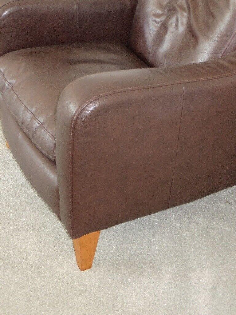 Marks U0026 Spencer Dark Brown Leather Chair   W78cm D90cm H82cm