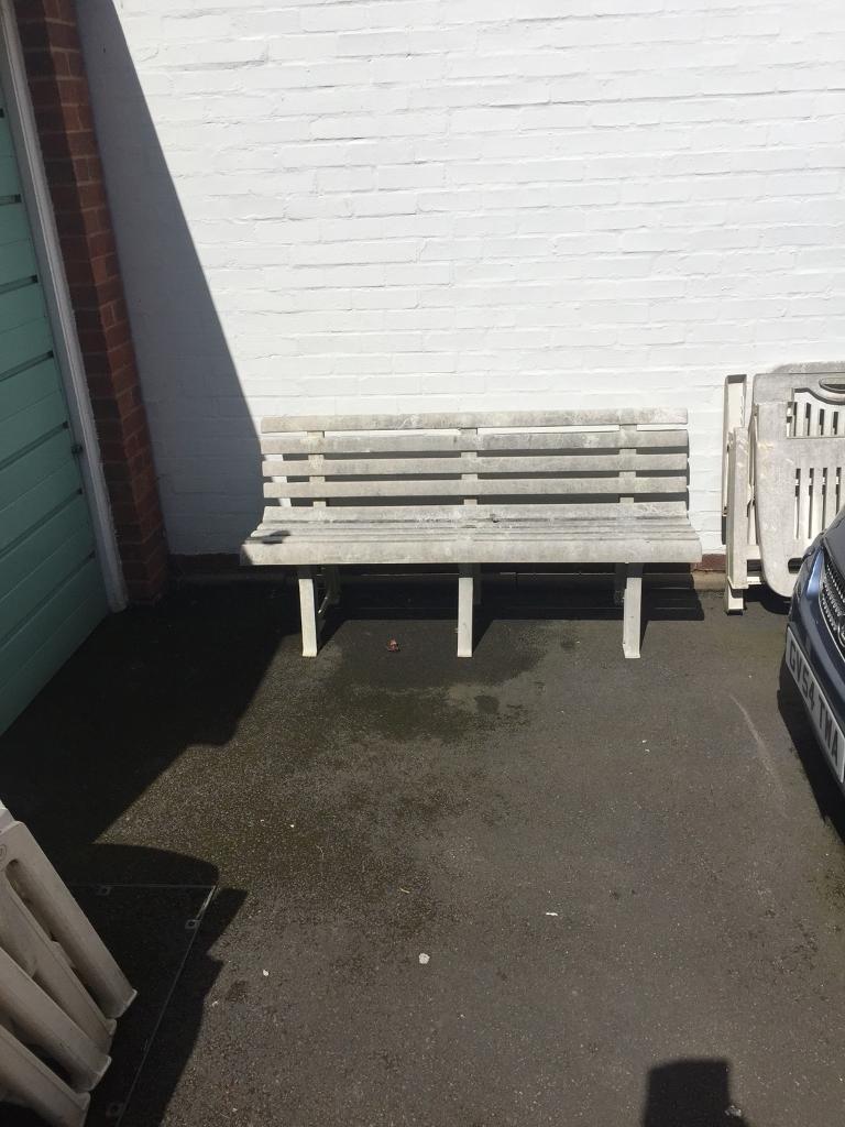 Plastic White Garden Furniture. Image 1 Of 4