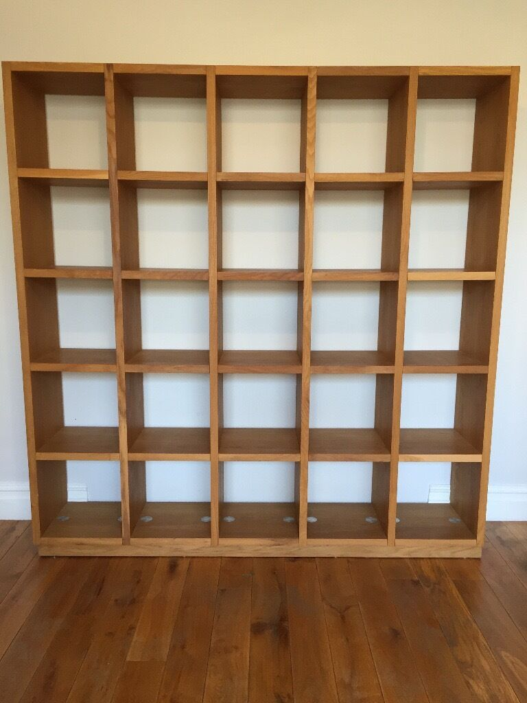 Awesome Cube Storage / Display Unit / Bookcase   Solid Oak, Italian Made, Excellent  Condition
