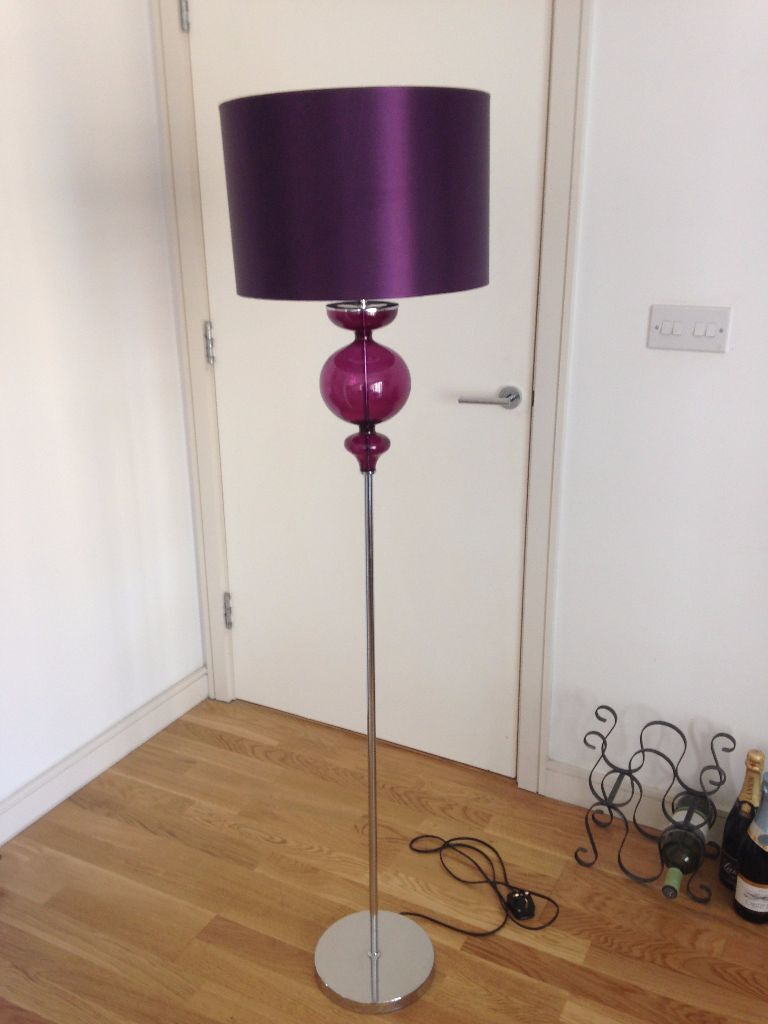 Next Home   Purple Floor Lamp   Great Condition   £15