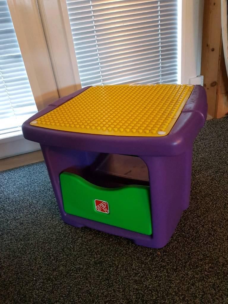 Step 2 Lego Duplo Play Table Storage