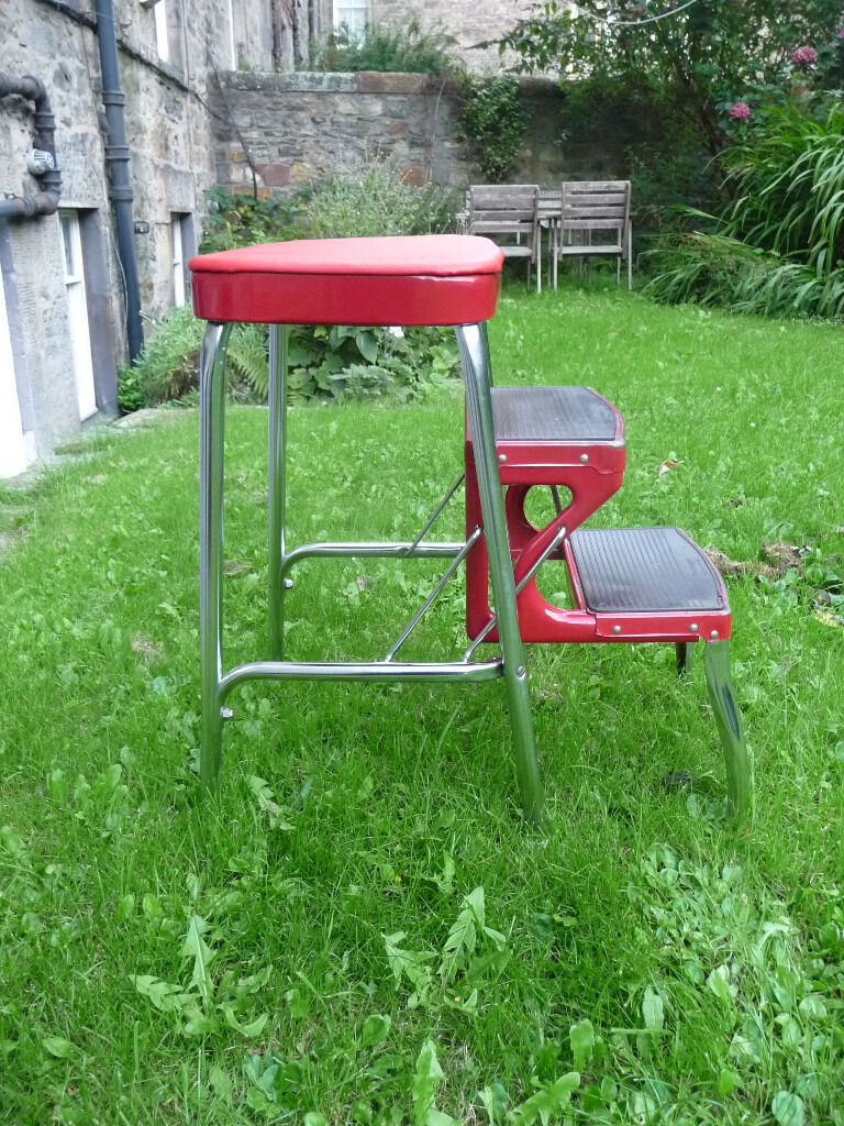 VINTAGE 1960S RARE RED RETRO PRESTIGE STEP STOOL LADDER CHROME RED & VINTAGE 1960S RARE RED RETRO PRESTIGE STEP STOOL LADDER CHROME RED ... islam-shia.org
