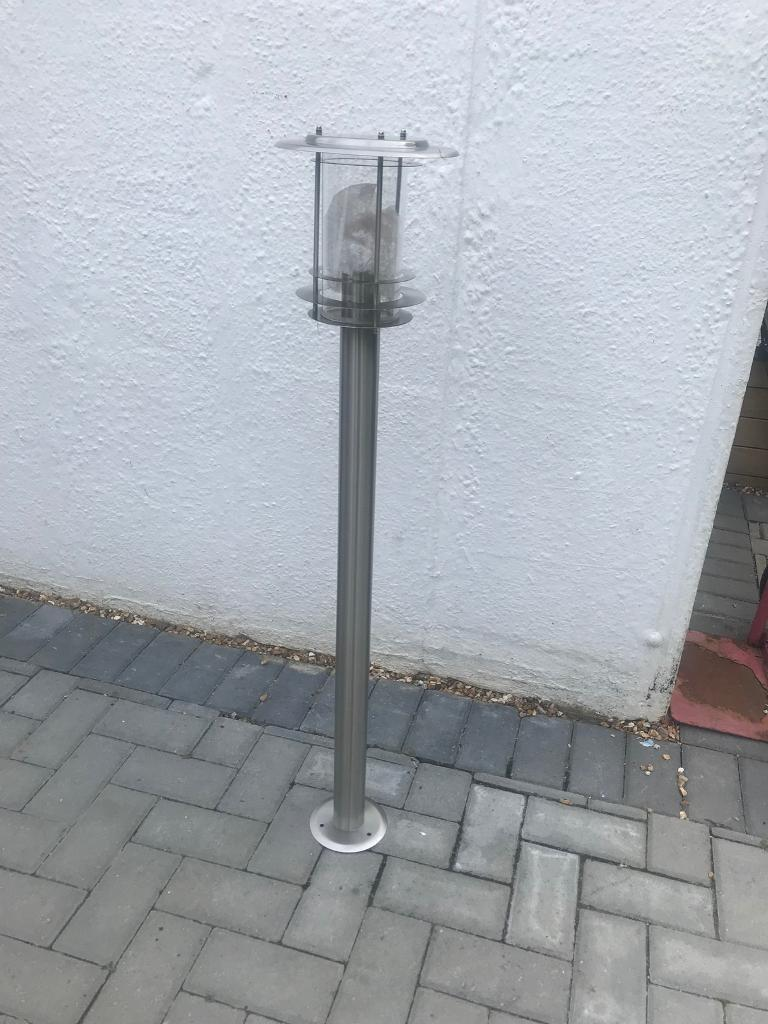 Stainless Steel 1 Meter Tall Garden Lamp Post