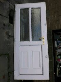 White composite door with frame. Includes highly secure lock and 3 keys & Roof door canopy | in Leeds West Yorkshire | Gumtree