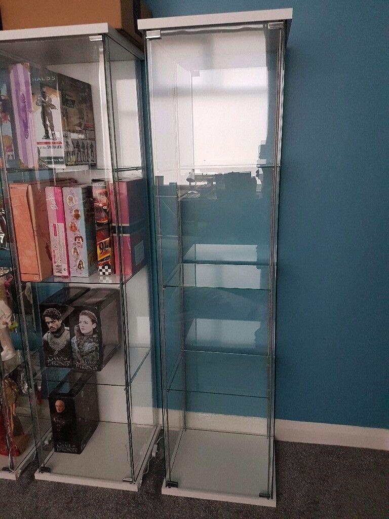 Ikea detolf glass display cabinet & Ikea detolf glass display cabinet | in Middlesbrough North ...