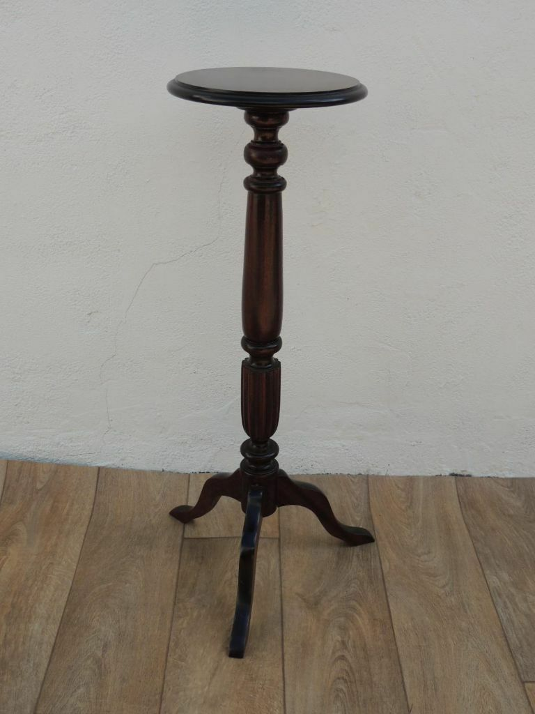 Wooden Quality Tall Side Table With Round Top (Delivery)