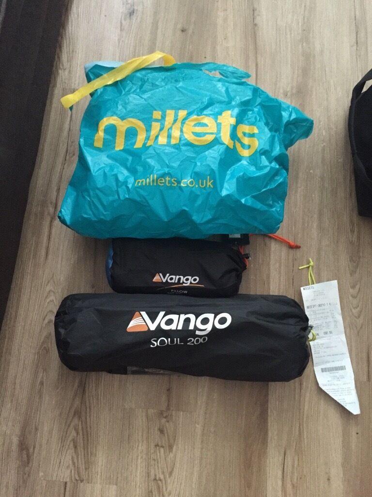 Vango Tent/Pillow/Sleeping Bag Millets Festival Gear & Vango Tent/Pillow/Sleeping Bag Millets Festival Gear | in ...