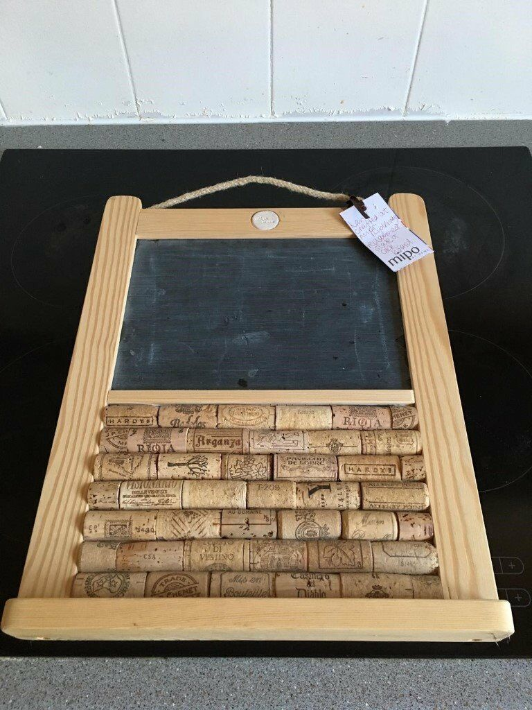 Small Slate Chalk And Cork Board Ideal For Kitchens   £10 From Isle Of Dogs