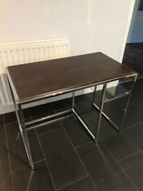 metal and wood desk