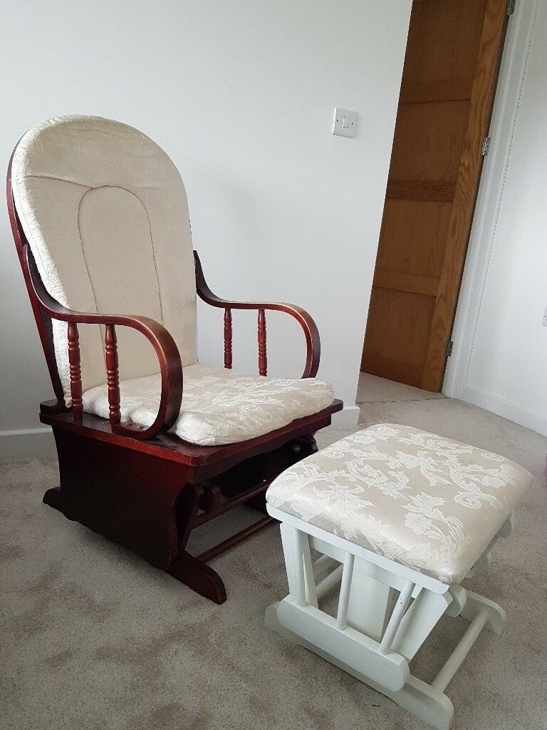 Amazing Wooden Rocking/Nursing Chair With Footstool