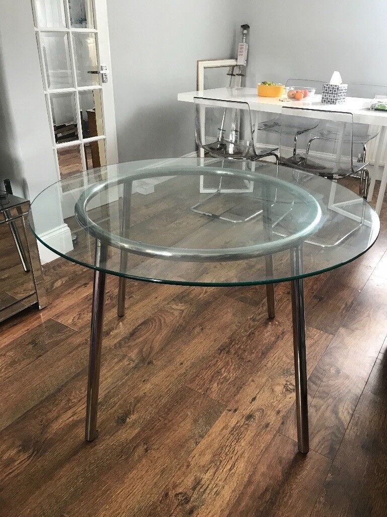 Merveilleux Ikea Round Glass Dining Table | In Eltham, London | Gumtree