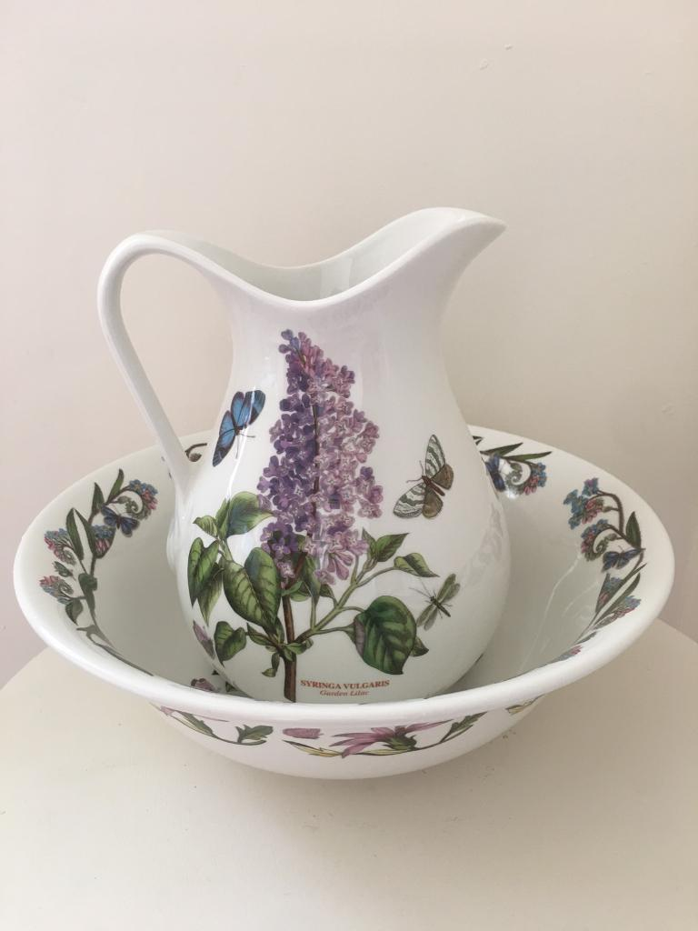 Portmeirion - Water / juice jug and bowl by Susan Williams-Ellis - Garden Lilac & Portmeirion - Water / juice jug and bowl by Susan Williams-Ellis ...