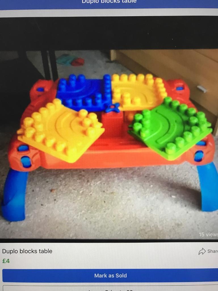 Duplo Mega Blocks Table