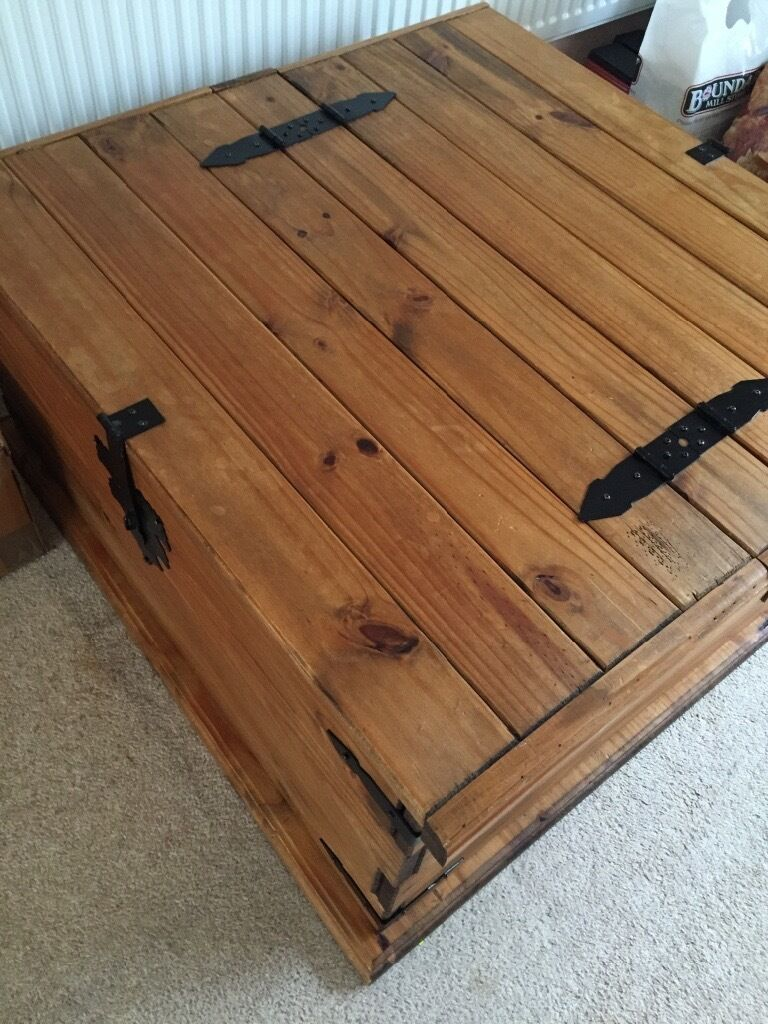 Corona Mexican Pine Storage Ottoman, Toy Box, Chest, Blanket Box, Coffee  Table