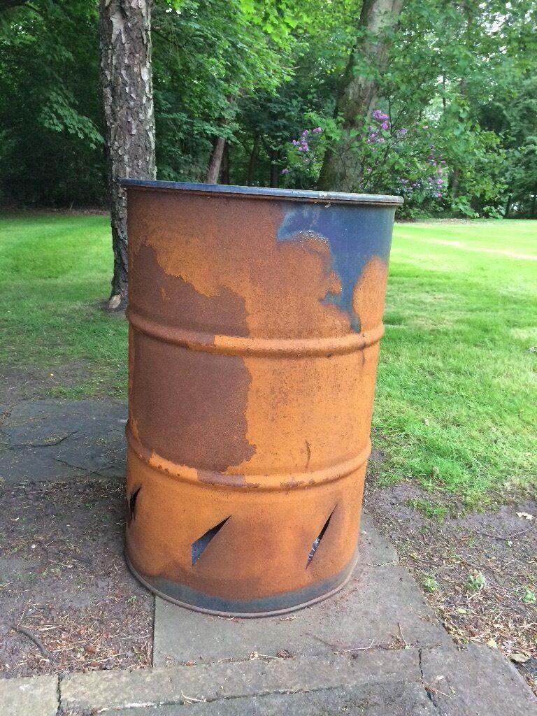 Oil Drum Garden Patio Burner Incinerator
