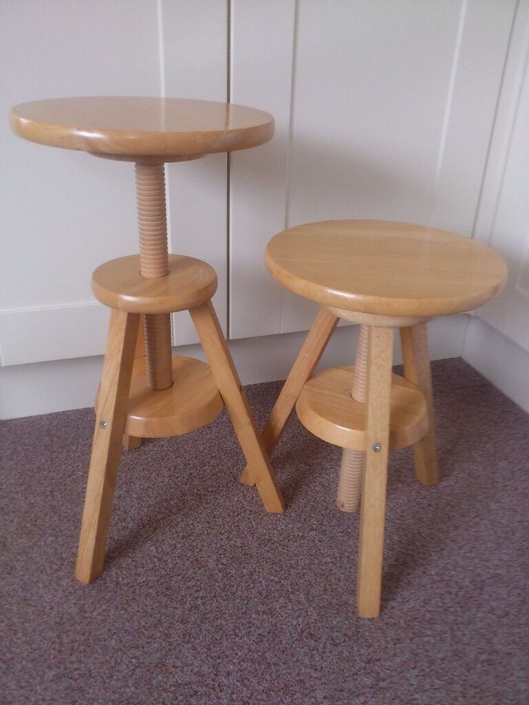 Attractive Adjustable Wooden Artist/piano/kitchen Stools