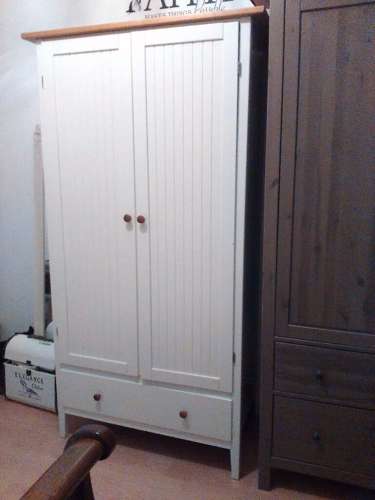 Ikea Visdalen White Country Farmhouse Style Panelled Wardrobe   Similar To  MFI Albany