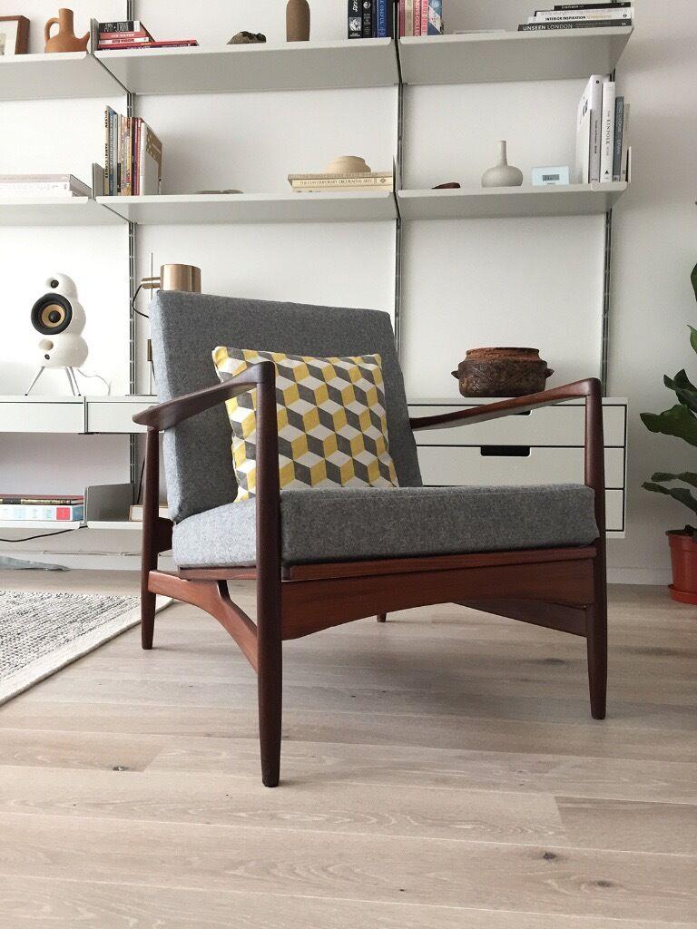 Charming Mid Century Ib Kofod Larsen Lounge Chair 1960s 60s Danish Modern E Gomme  Teak Armchair