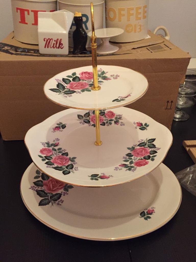 Vintage plate cake stand & Vintage plate cake stand | in Aberdeen | Gumtree