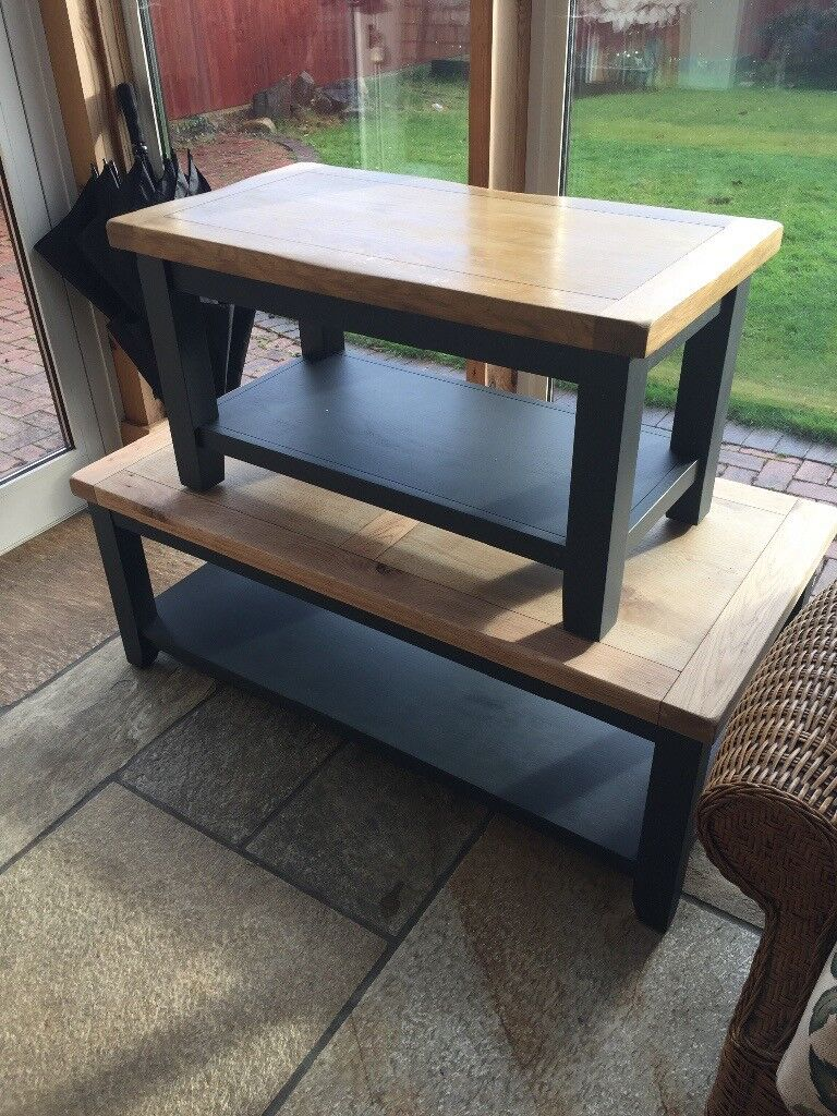 Coffee Table. Farrow And Ball Finish. Bees Wax Treated Table Top.