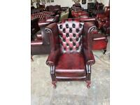 Stunning oxblood leather chesterfield Queen Anne wingback chair UK delivery  sc 1 st  Gumtree & Chesterfield wingback | Sofas Armchairs Couches u0026 Suites for Sale ...
