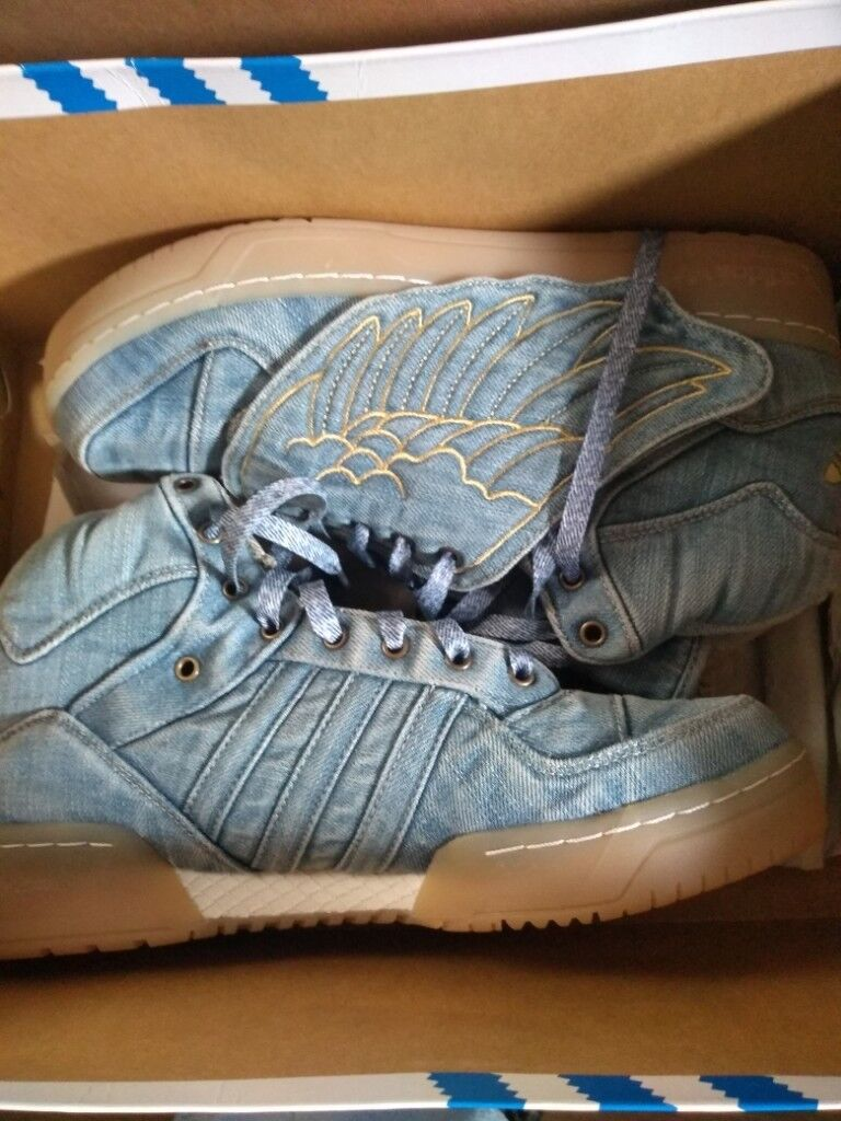 promo code 55fc4 86b56 new adidas denim shoes with wings