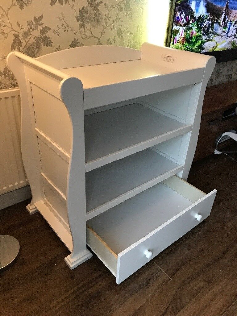 Babies R Us Sleigh Changing Table/dresser With Drawer