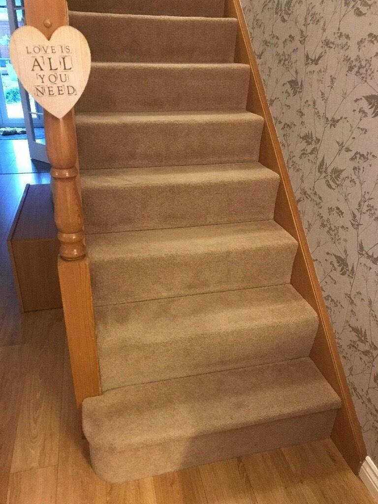 Quality Stairs Carpet. EXCELLENT Condition. Dark Beige/mink Colour