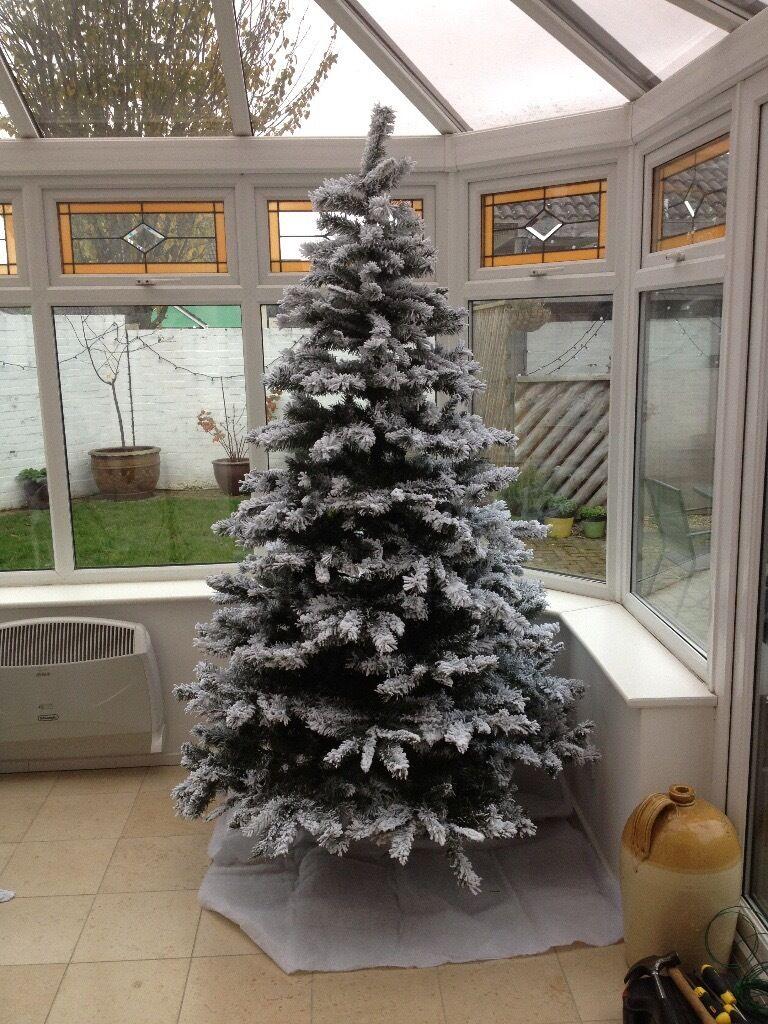 7ft 240cm Snow Storm Christmas Tree 7u0027 7 Foot