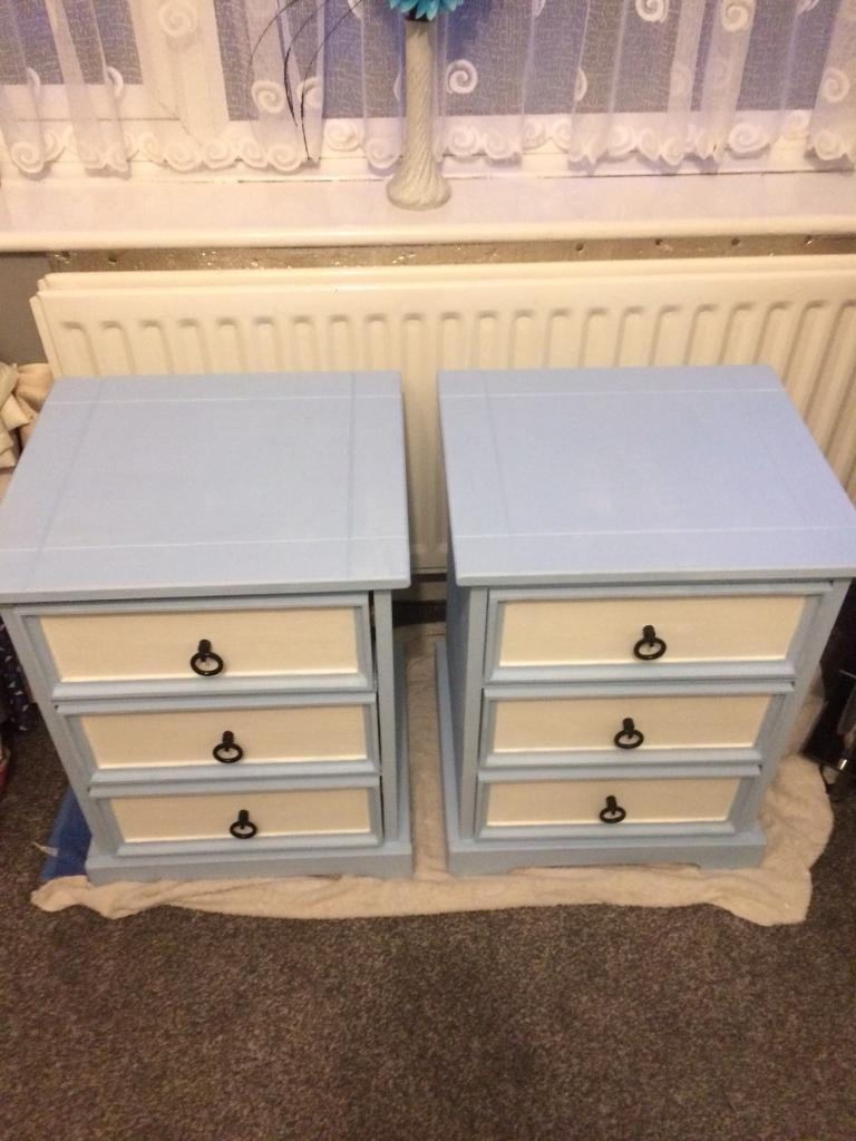 Two Matching Bedside Tables/chest Of Drawers. Image 1 Of 4