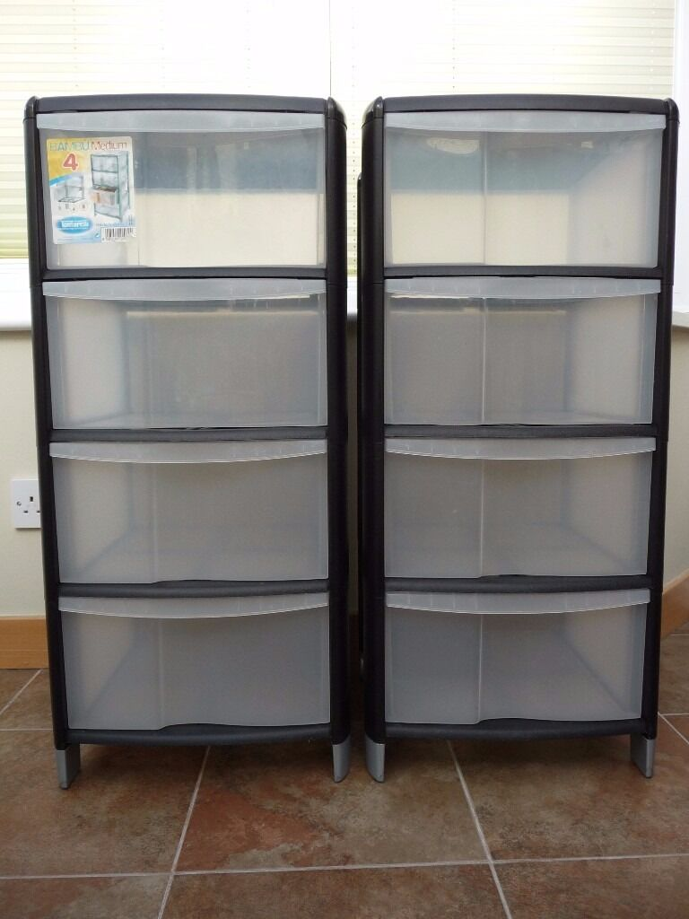 2 x 4 DRAWER WHEELED PLASTIC STORAGE UNITS & 2 x 4 DRAWER WHEELED PLASTIC STORAGE UNITS | in Perth Perth and ...