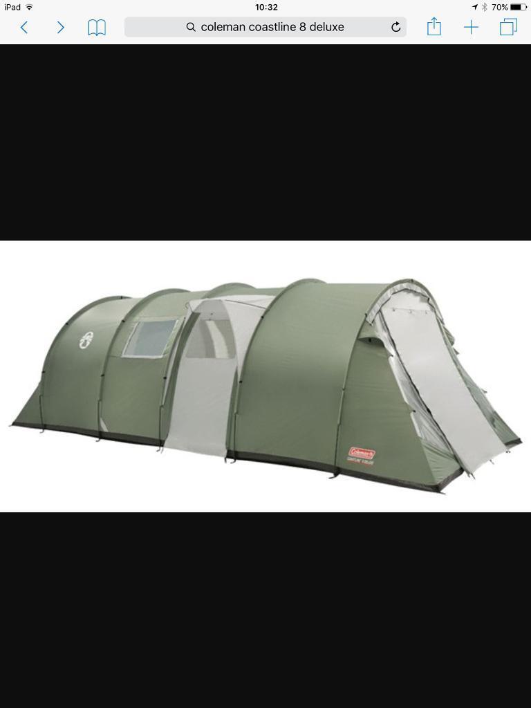 Coleman coastline 8 Deluxe Tent & Coleman coastline 8 Deluxe Tent   in Morpeth Northumberland   Gumtree