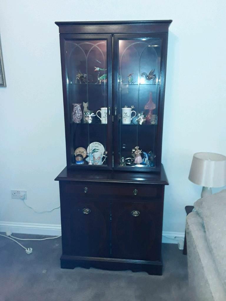 Mahogany wall unit display cabinet dresser & Mahogany wall unit display cabinet dresser | in Norwich Norfolk ...