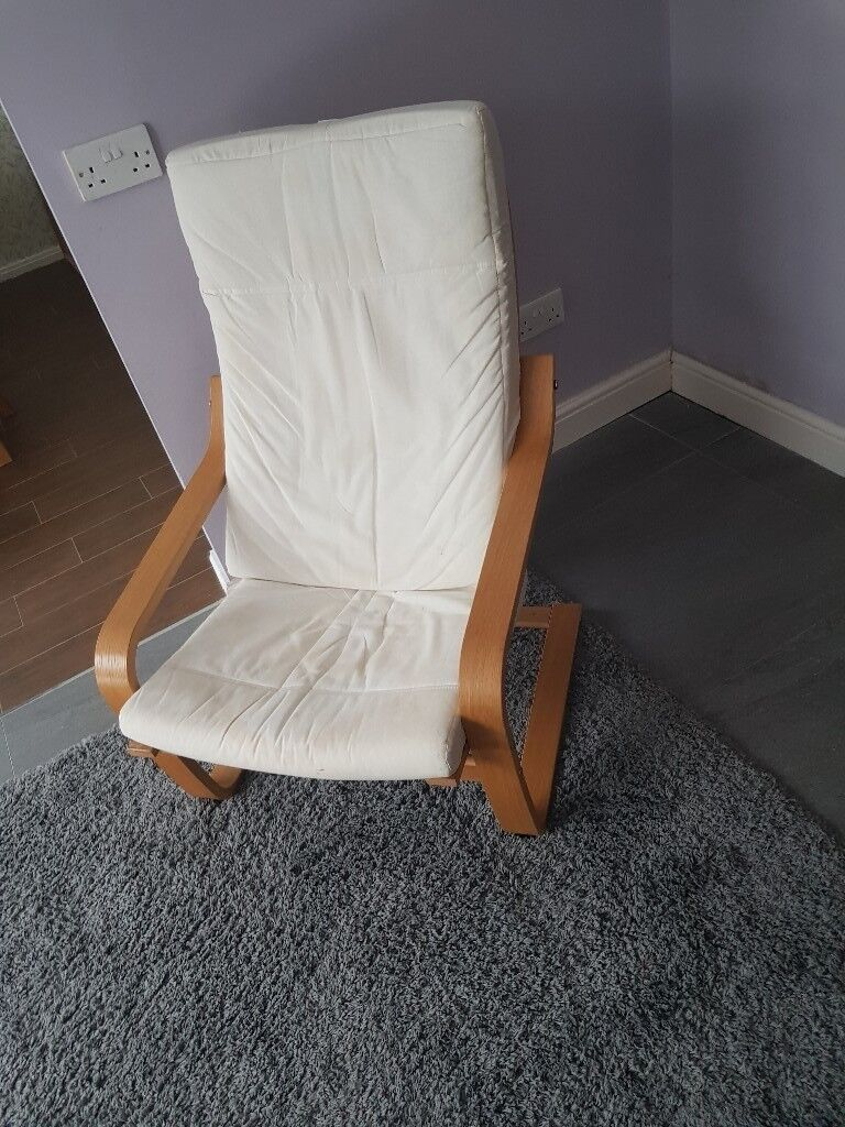 Ikea poang chair frame and cushion *needs cover * & Ikea poang chair frame and cushion *needs cover * | in Wallsend ...