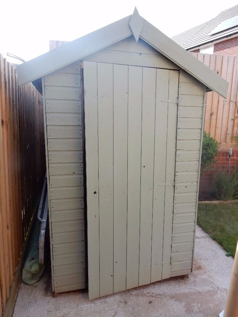 GARDEN SHED PAINTED PASTEL GREEN 6X4 EXETER COLLECTION