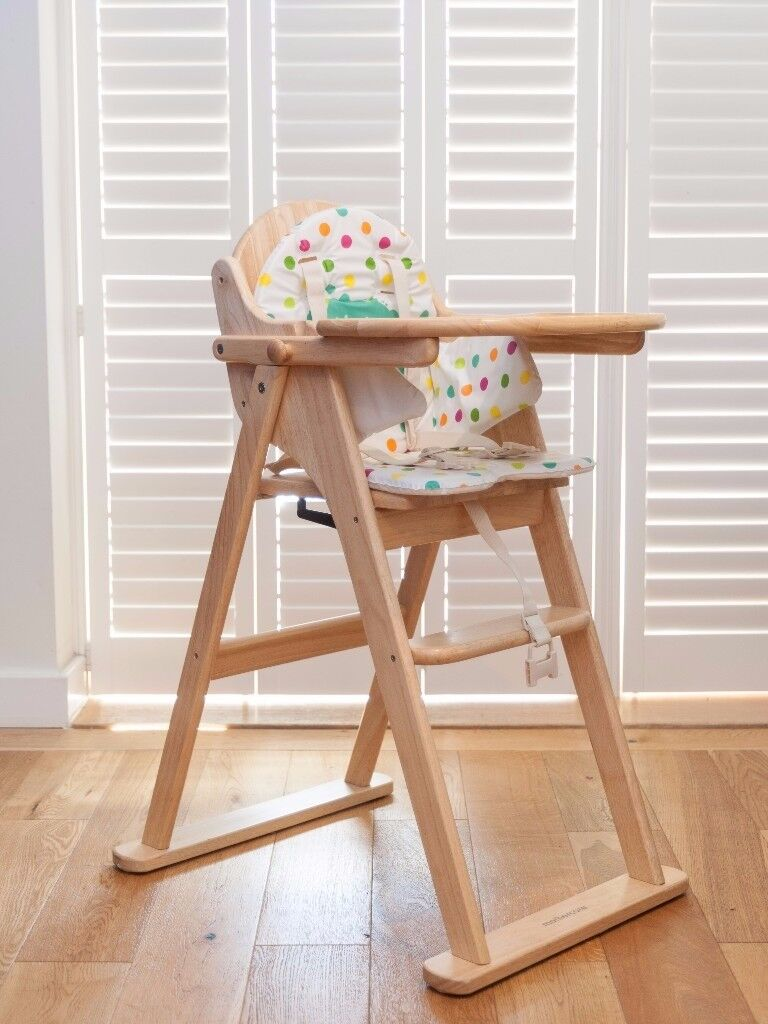 EAST COAST FOLDING HIGHCHAIR / Mothercare Valencia Wooden Highchair    Natural