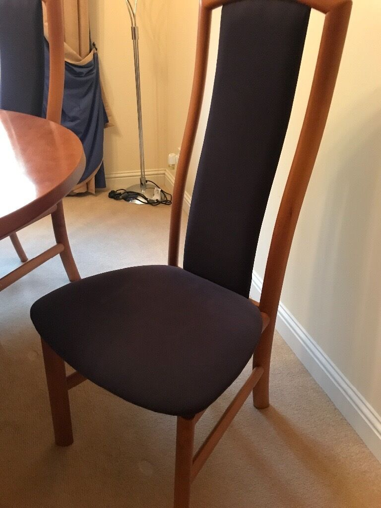 Skovby Dining Table With 6 Skovby Chairs | In Glenrothes, Fife | Gumtree