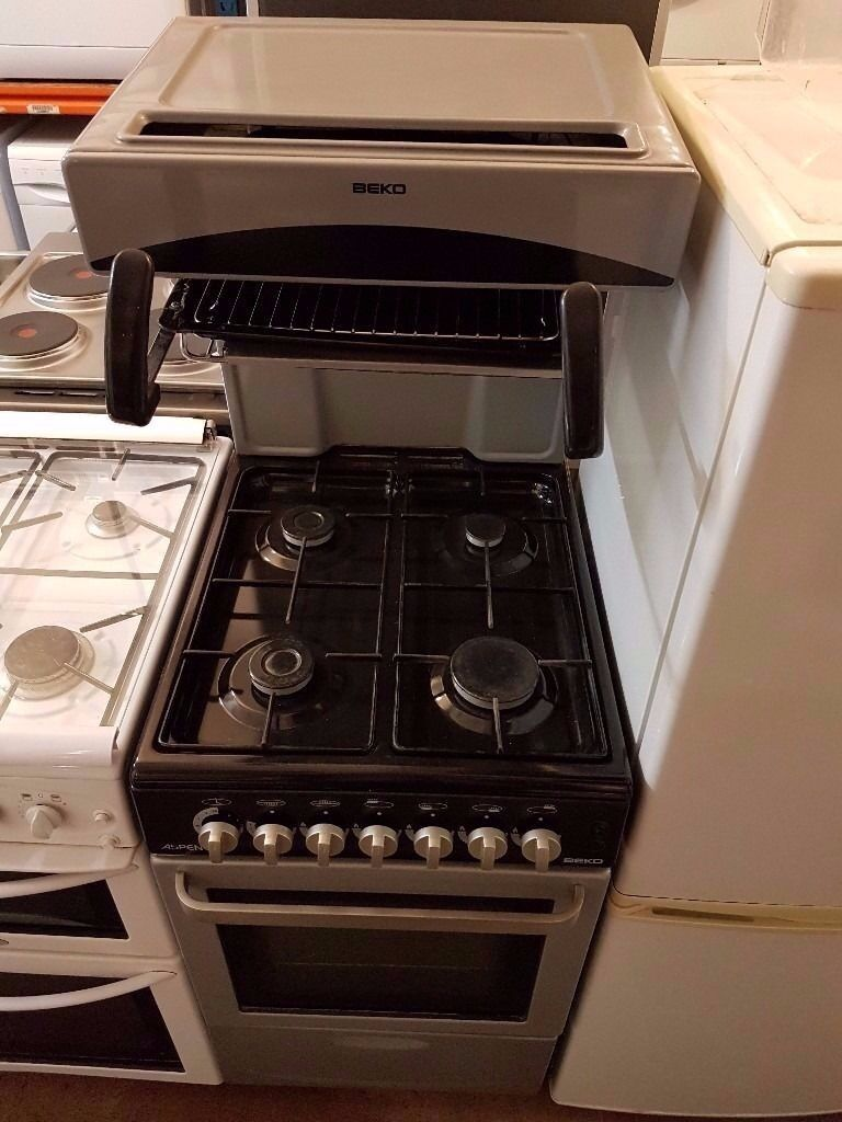 Lovely Gas Oven And Grill Part - 2: ASPEN BEKO 50cm Gas Grey Cooker, Gas Oven And Grill , Eye Level Gas Cooker