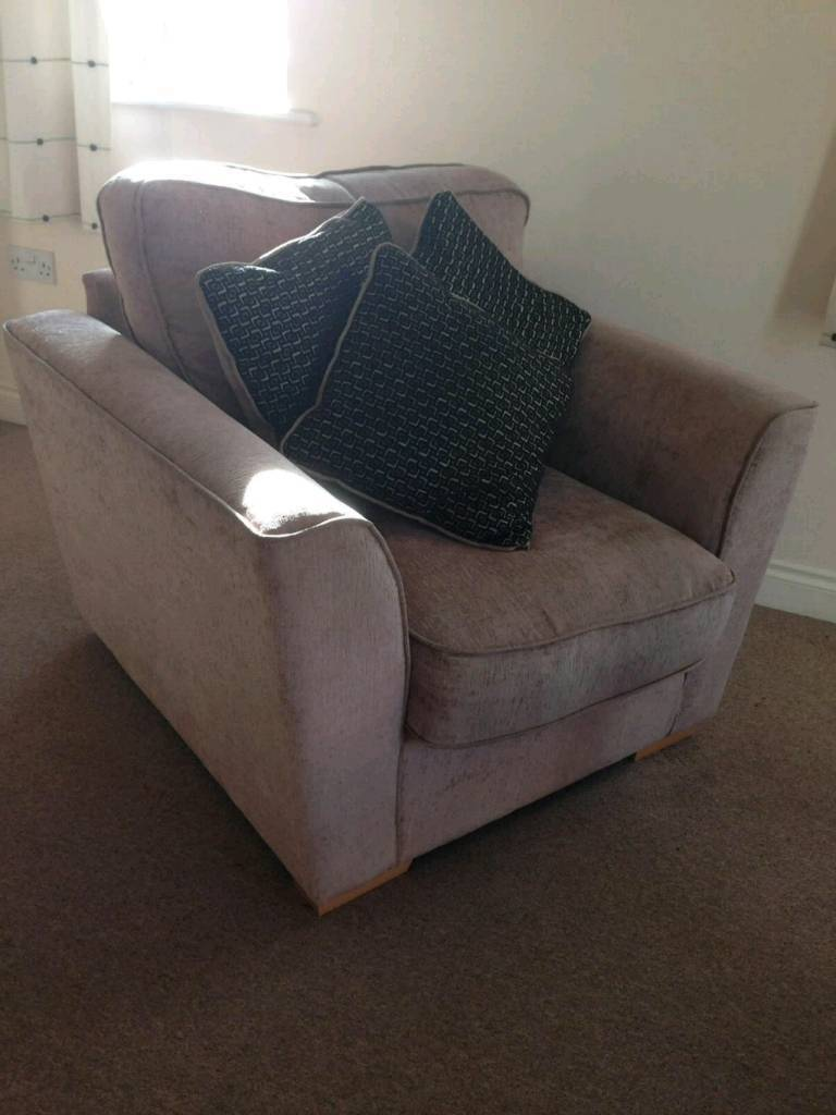 Furniture Village Large Armchair And Cushions