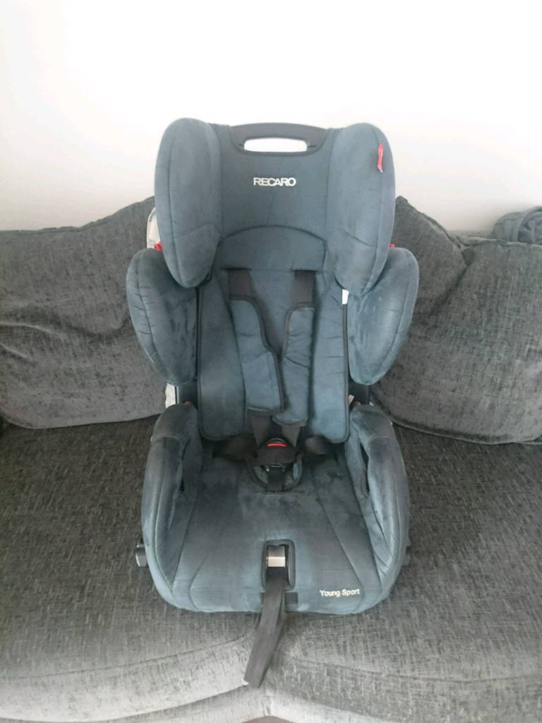 Recaro Young Sport Car Seat 5 Point Harness Fully Adjustable Side Impact  Protection 9 36kg