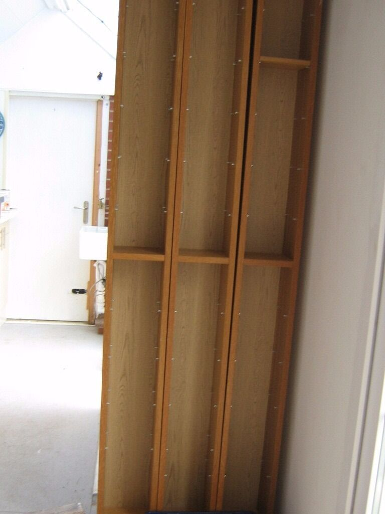 CD Storage GNEDBY From Ikea In Oak Veneer X3