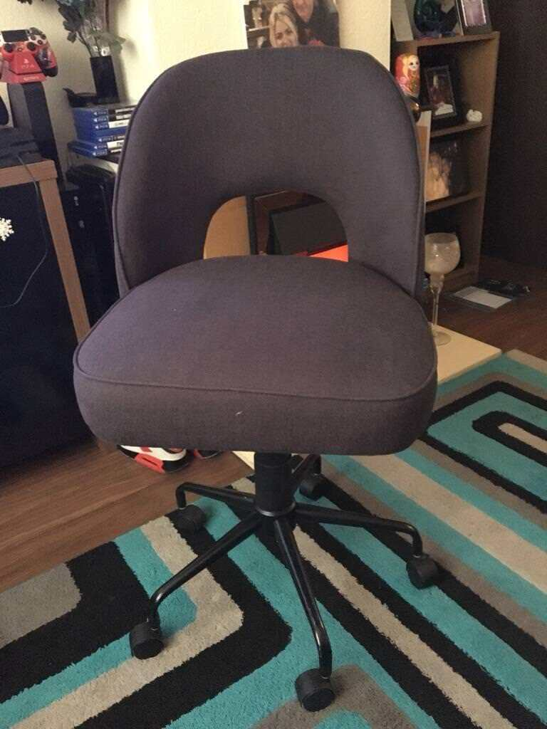 Charcoal Grey Chair With Adjustable Seat New Bargain 20 Pound